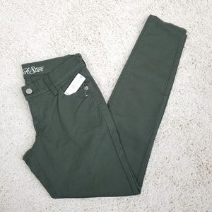 NWt Old Navy Green Rockstar Skinny Jeans Size 2